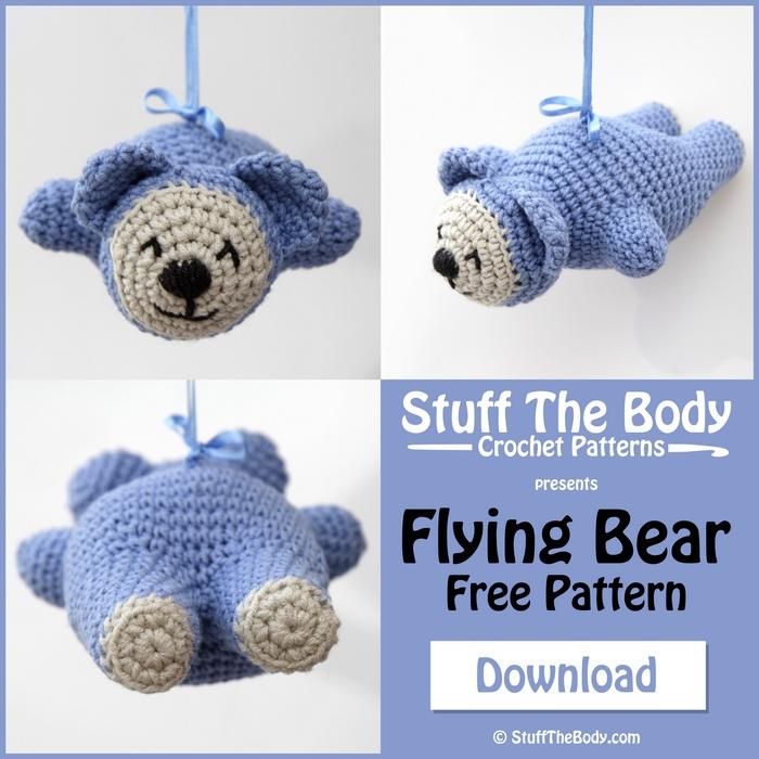 Amigurumi Stuff The Body : Flying Bear Free Crochet Amigurumi Pattern Stuff The Body