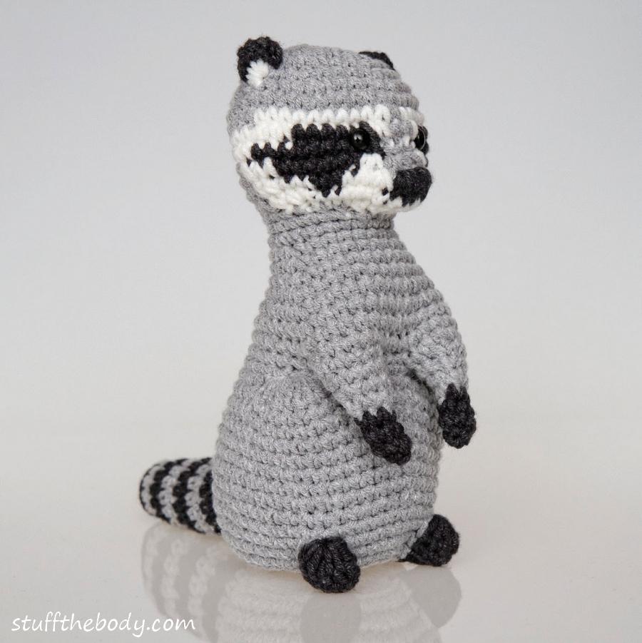 Amigurumi Raccoon : Raccoon Amigurumi/Crochet Pattern Stuff The Body