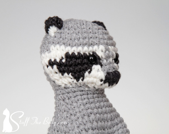 AMIGURUMI PATTERN/ tutorial (English) Amigurumi Raccoon -
