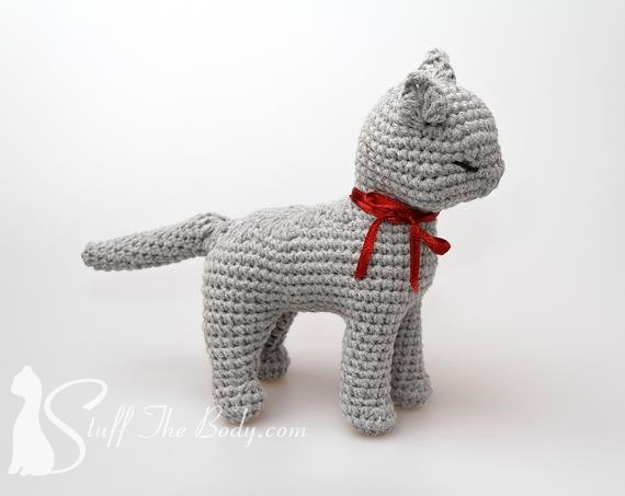 Sandy The Cat Seamless Amigurumi Pattern Stuff The Body