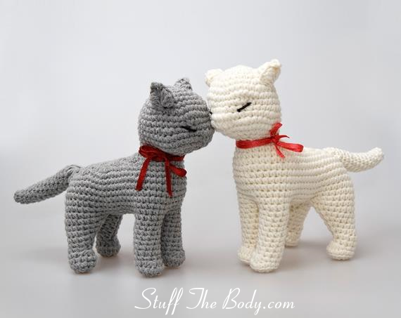 sandy the cat seamless amigurumi pattern