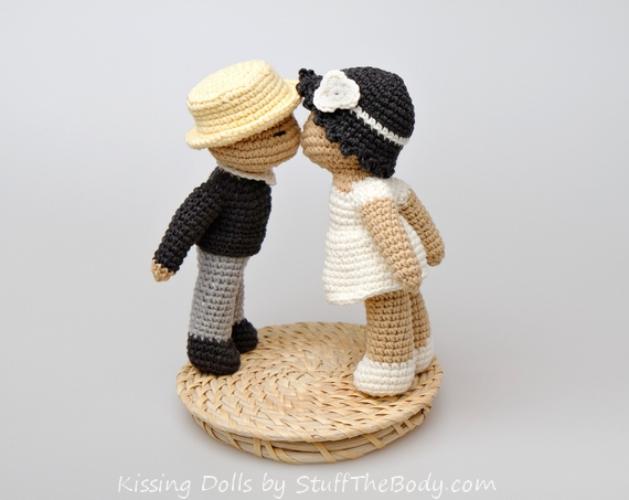 Kissing Dolls Amigurumi Pattern for a wedding topper or ...