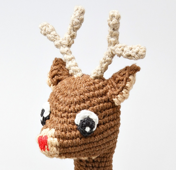Rudolph The Red-Nosed Reindeer Free Amigurumi Pattern Modification ...
