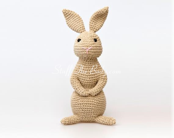 amigurumi bunny pattern, rabbit crochet pattern for easter