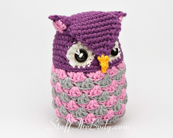 Free Amigurumi Owl Pattern : Seamless owl amigurumi pattern stuff the body