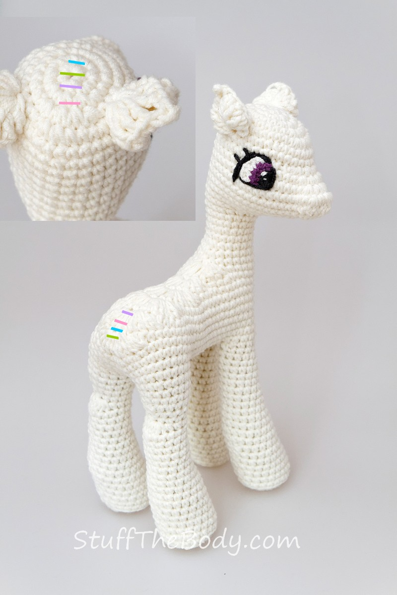Crochet Alpaca (or Llama!) Toy - free pattern + tutorial | Alpaca ... | 1199x800