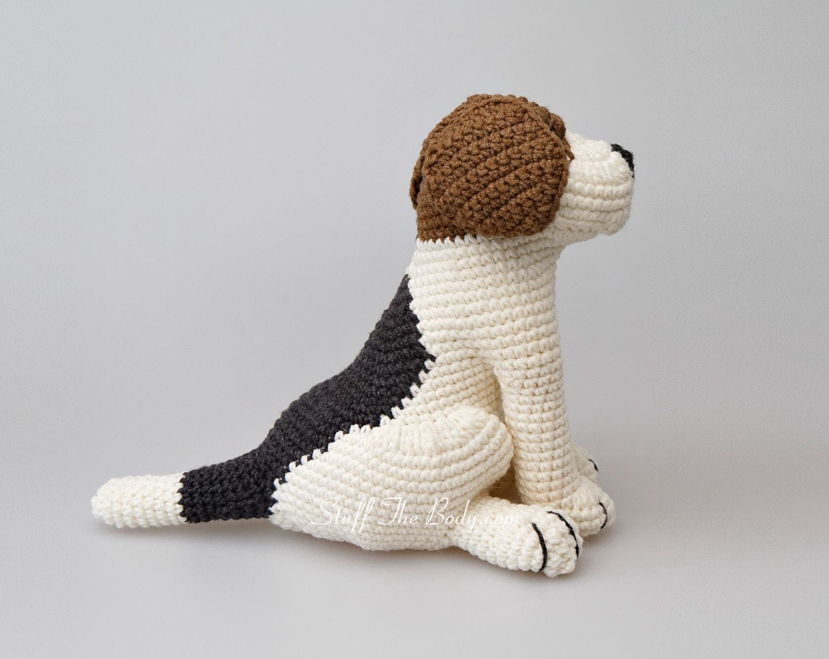 Free Pattern For Amigurumi Dog : Azor The Beagle Dog Amigurumi Pattern Stuff The Body