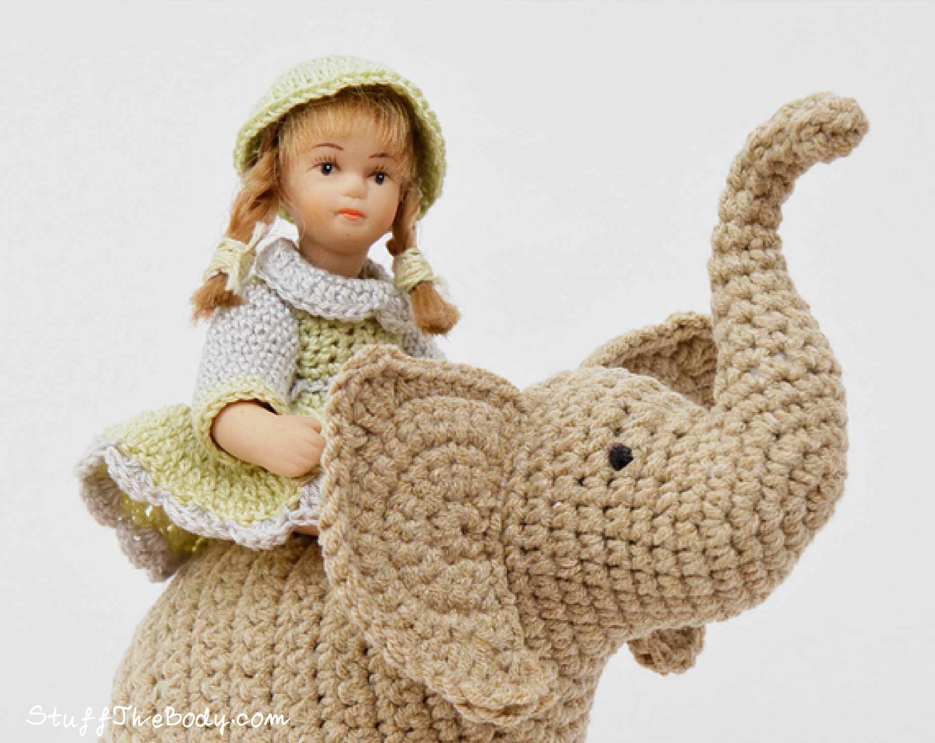 Amigurumi Elephant Pattern : Elephant trunk up crochet pattern stuff the body