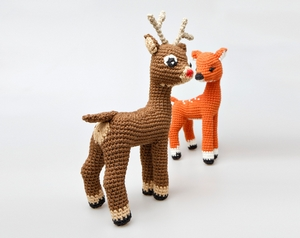 Rudolph The Rednosed Reindeer Free Amigurumi Pattern Modification