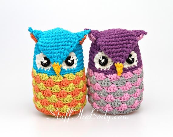 Amigurumi Owl Crochet Patterns Free : Seamless owl amigurumi pattern stuff the body